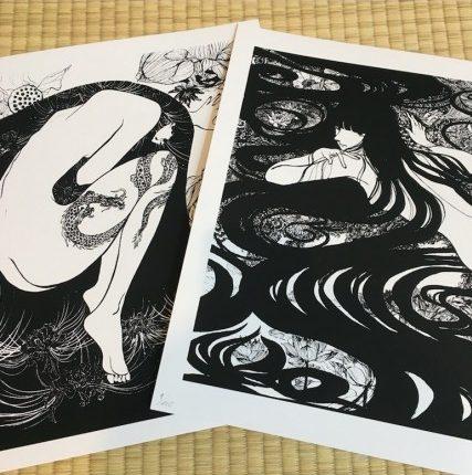 Ryuko + Yin Yang / sérigraphie